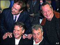 Monty Python stars Eric Idle, Terry Gilliam, Michael Palin and Terry Jones