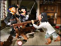 Кадр из мультипликационного фильма ''Три мушкетера''