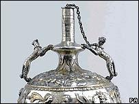 Part of the Sevso treasure on display at Bonhams auction house