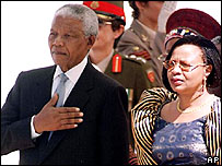Nelson Mandela (left) and Graca Machel (right)