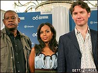 Forest Whitaker, Kerry Washington and director Kevin Macdonald