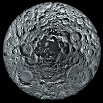 South pole of the Moon as seen by Clementine  Image: Clementine, BMDO, NRL, LLNL