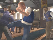 Screen shot from Bully