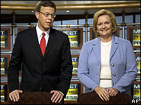 Jim Talent and Claire McCaskill