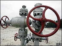 Gas tap in Ukraine