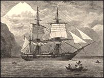 Корабль ''Бигль'' (Лондон: John Murray - Кембриджский университет)