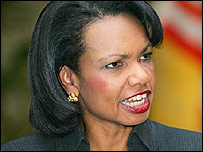 US Secretary of State Condoleezza Rice during visit to Japan