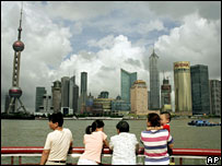 Pudong development in Shanghai - archive picture