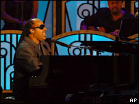 Stevie Wonder at a tribute to Aretha Franklin in September 2006