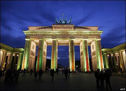Berlin's Brandenburg Gate during the Festival of Lights