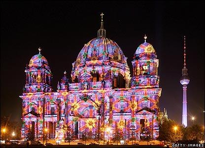 Berlin's Berliner Dom during the Festival of Lights