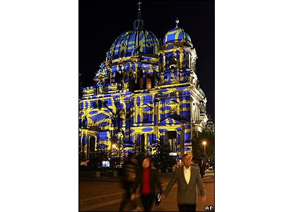 Berlin's Berliner Dom during the Festival of Lights