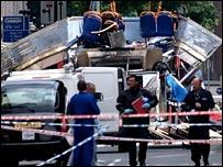 Scene of London bus bombing