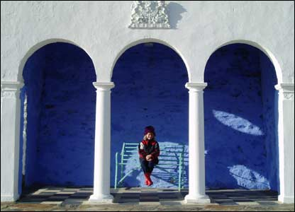 Paul Brice, from Monmouth, took this picture of daughter Sarah at Portmeirion
