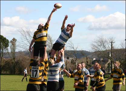 Llangwm take on St Davids on a sunny Pembrokeshire afternoon, sent in by Stephen Poole