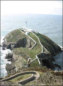 A photograph of South Stack Lighthouse and Island (Andrew Woodvine, Bangor