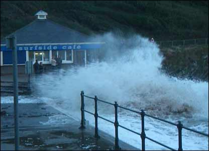 Stuart Baker from Llanelli braved the winds and waves at Caswell for this shot