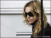 Madonna following her return to London from Malawi