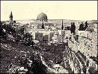 Picture showing mosque of Omar in Jerusalem