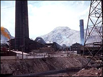 Planta de fundición en La Oroya, Perú.