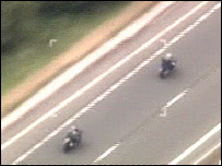 Speeding bikers who were later banned (Picture - North Wales Police)