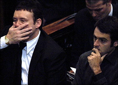 Jimmy White (left) and Ronnie O'Sullivan