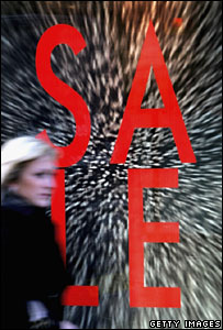 Sale sign in a shop window (Getty Images)