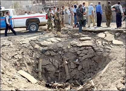 Crater in Mosul