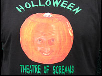 Plymouth's t-shirt for the Pilgrims' Hallowe'en clash with Ipswich