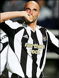 Newcastle goalscorer Antoine Sibierski