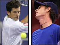 Tim Henman (left) and Andy Murray