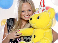 Emma Bunton with Pudsey Bear