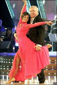 Jimmy Tarbuck and Flavia Cacace