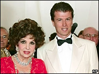 Gina Lollobrigida and her future husband Javier Rigau Rafols