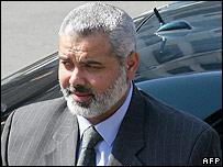 Palestinian PM Ismail Haniya of Hamas