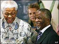 President Thabo Mbeki (r) with his predecessor Nelson Mandela
