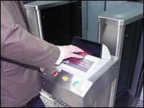 Iridian passport reader