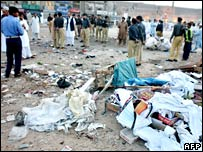 Site of October blast in Peshawar