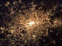 London seen from space