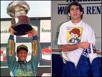 Schumacher y Ayrton Senna
