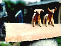 Toros de terracota