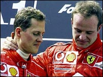 Schumacher y Barrichello