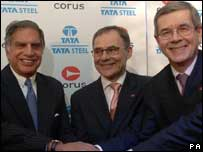 structuring the deal tata and corus Tata steel, globally the 56th largest steel maker and second largest steel maker of india, bid for anglo-dutch steel maker, corus, the ninth largest steel maker globally the bid was initially perceived as an audacious business strategy, where a smaller company plans to acquire a bigger one.