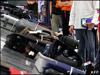 Airport luggage. File photo
