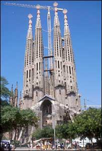 La Sagrada Familia de Gaud� en Barcelona.