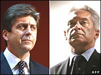 Bulgarian President Georgi Parvanov (left) and Volen Siderov