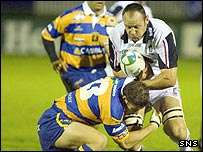 Ben McDougall in action against Parma