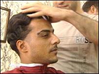 An Iraqi barber