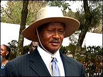 Uganda's President Yoweri Museveni in September 2006