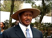 Uganda's President Yoweri Museveni in September 2006